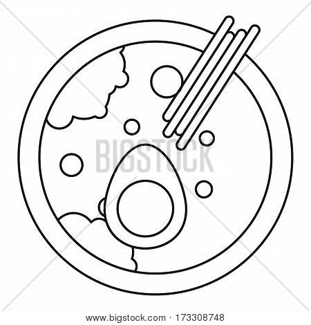 Miso soup icon. Outline illustration of miso soup vector icon for web