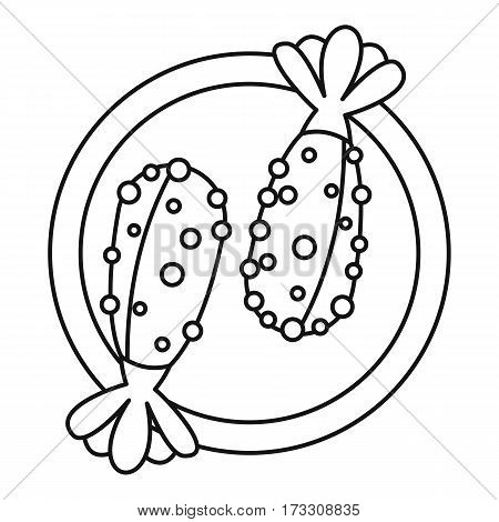 Asian food icon. Outline illustration of asian food vector icon for web