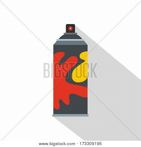 Colored spray icon. Flat illustration of colored spray vector icon for web
