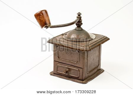 Old Rustic Wooden Hand Mill For Coffee And Spices