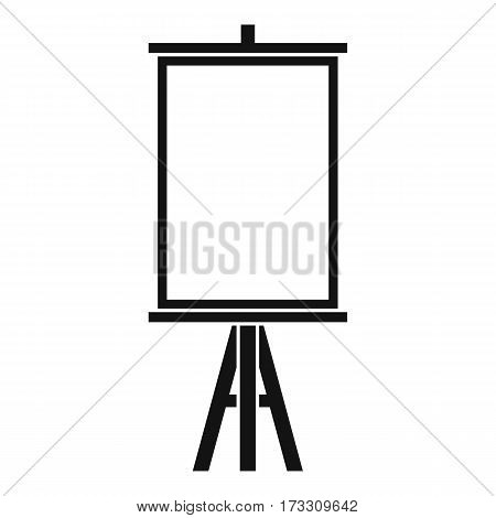 Easel icon. Simple illustration of easel vector icon for web