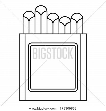 Crayons icon. Outline illustration of crayons vector icon for web