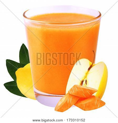 Collection of smoothie isolated on white background as package design element. Healthy eating. Food photography.