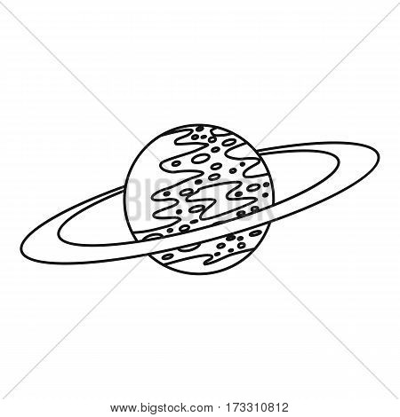 Saturn icon. Outline illustration of saturn vector icon for web