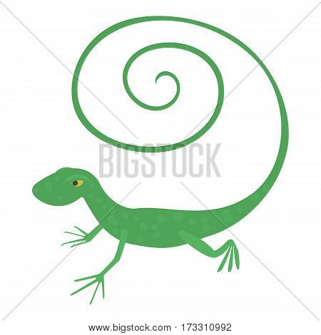 Fast lizard icon. Cartoon illustration of fast lizard vector icon for web