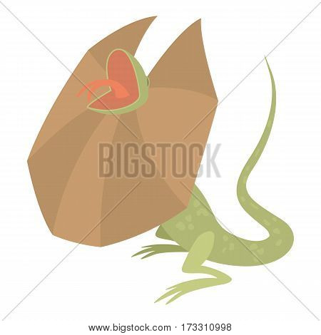 Frill necked lizard icon. Cartoon illustration of frill necked lizard vector icon for web