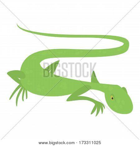 Brisk lizard icon. Cartoon illustration of brisk lizard vector icon for web