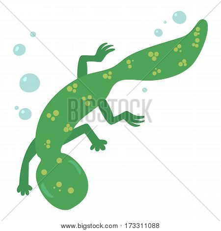 Swimming lizard icon. Cartoon illustration of swimming lizard vector icon for web