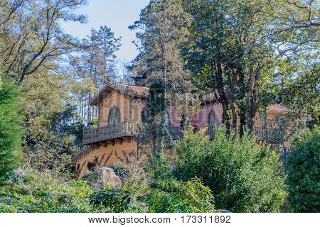 Cottage in the middle of the forest in Sintra, Portugal