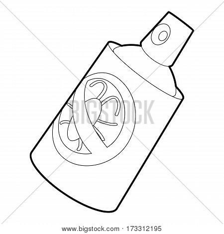 Insecticide spray icon. Outline illustration of insecticide spray vector icon for web