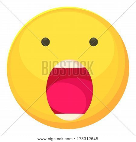 Scared smiley icon. Cartoon illustration of scared smiley vector icon for web