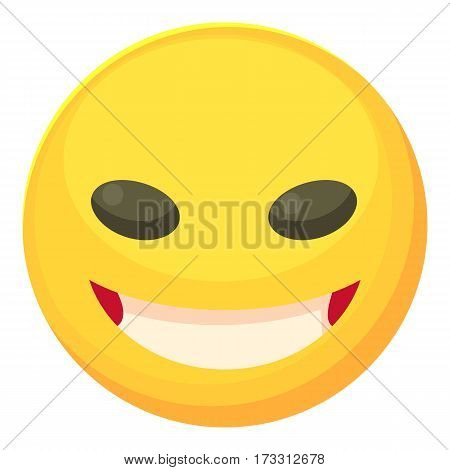 Cunning smiley icon. Cartoon illustration of cunning smiley vector icon for web