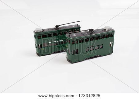 Fingure Of Double Decker Tram