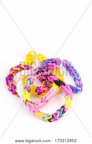 Colorful Loom Rubber Bands With Copy Space