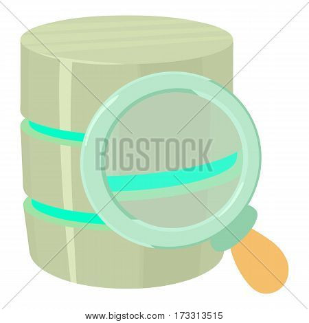 Searching database icon. Cartoon illustration of searching database vector icon for web