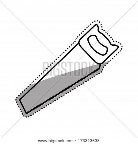 Hacksaw construction tool icon vector illustration graphic design
