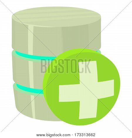 Diagnosis database icon. Cartoon illustration of diagnosis database vector icon for web