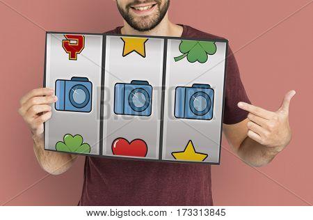 Slot Machine Casino Multimedia Icons