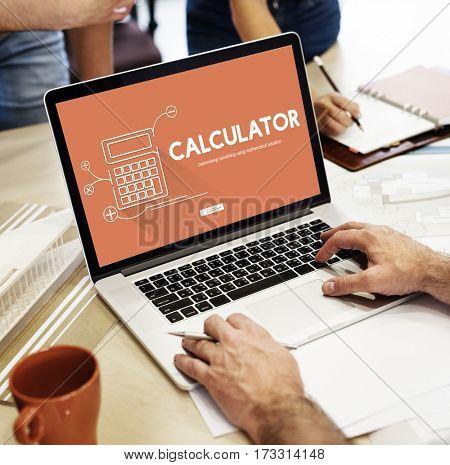 Calculator Mathematics Accounting Financial Equipment Concept