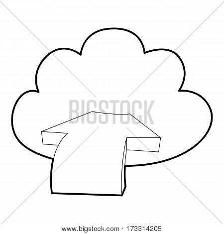 Incoming database icon. Outline illustration of incoming database vector icon for web