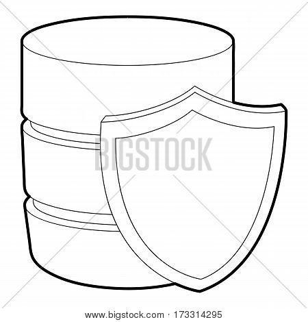 Safe database icon. Outline illustration of safe database vector icon for web