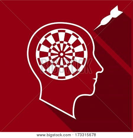 Great brain icon. Flat illustration of great brain vector icon for web