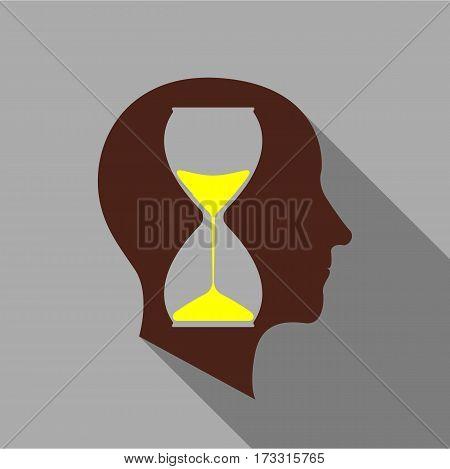 Anticipant brain icon. Flat illustration of anticipant brain vector icon for web