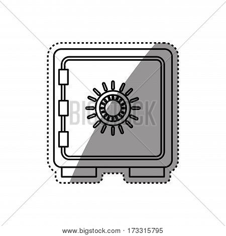 Strongbox safety money icon vector illustration graphic design