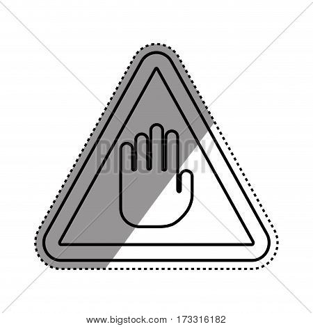 Hand stop sign icon vector illustration graphic design