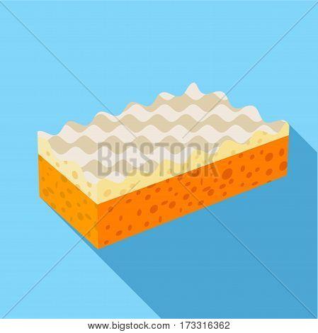 Sponge icon. Flat illustration of sponge vector icon for web
