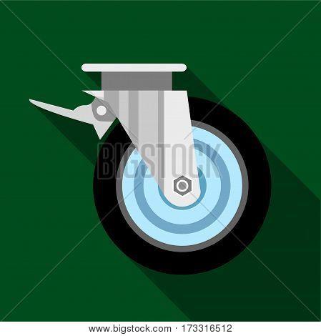 Cart wheel icon. Flat illustration of cart wheel vector icon for web