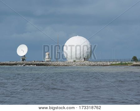NASA Dish and a Bubble at the Southern Most Point in Key West Florida