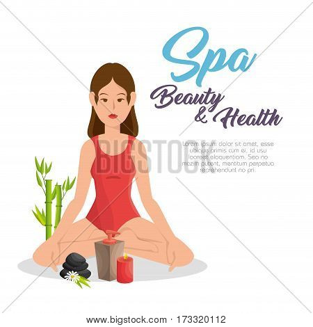 Woman practicing yoga icon vector illustration design