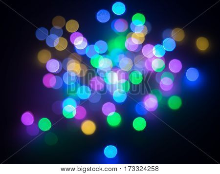 abstract colorful circle shape light bokeh background