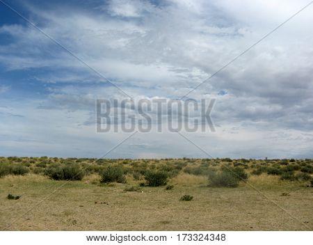 desert summer sky nature blue cloud Tuva
