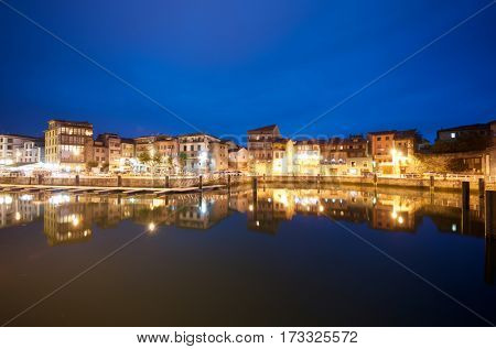 View of the port of Llanes, Asturias, Spain.
