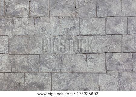 Stone pavement texture background on street walk