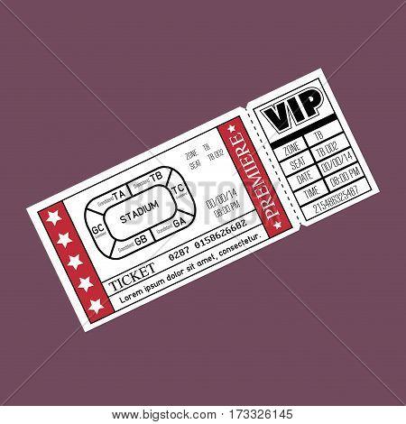 stadium ticket entrance icon vector illustration design