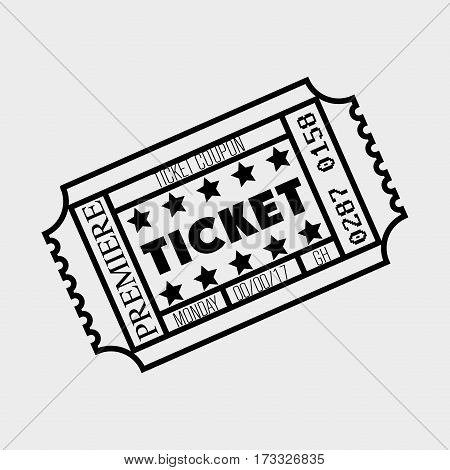 cinema ticket entrance icon vector illustration design