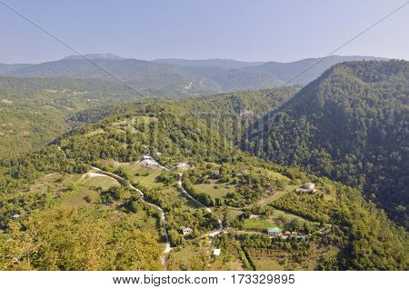 View from a mountain in New Athos, Abkhazia