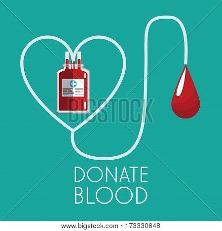 donate blood concept plastic bag transfusion vector illustration eps 10
