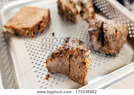 Beef Meat On Tray