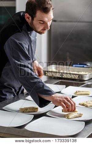 Chef Cooking For Dinner
