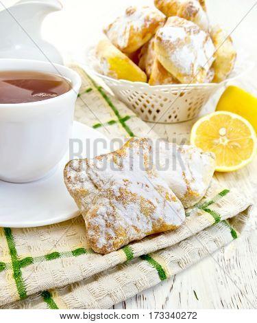 Cookies Lemon With Tea On Board
