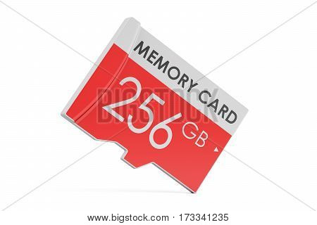 memory card 256 GB 3D rendering isolated on white background