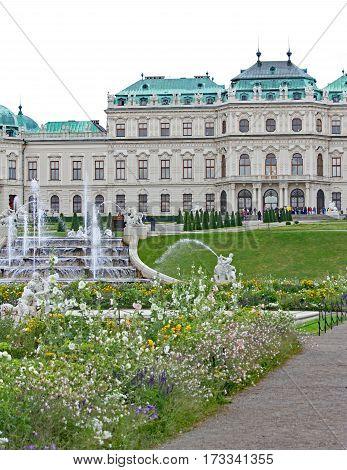 Vienna, Austria - August 27, 2014: View Of Upper Belvedere Castl
