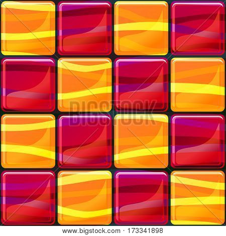 Tiles texture seamless pattern vector illustration with waves