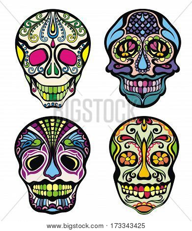 Sugar Skull. Day of the dead. Decorative ornamental skull