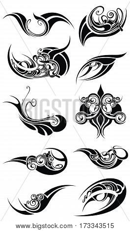 Set of various art elements for your design