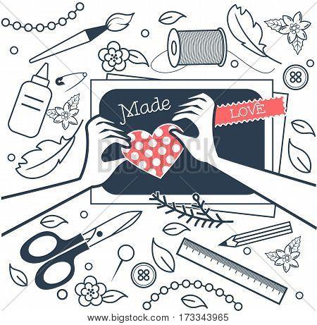 Handmade, Crafts Workshop Black And White